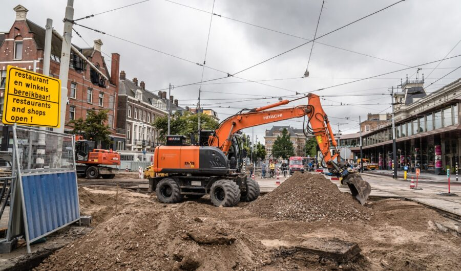 Road maintenance in Holland